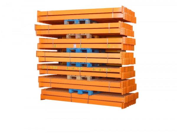 60x Nedcon Längstraversen 2800 mm Orange Traversen Regal Holm Balken