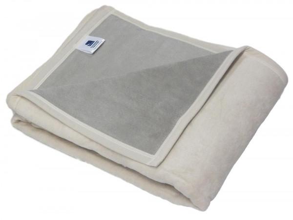 4x Decke Biederlack beige 150x200 Sofadecke Wohndecke Wolldecke Kuscheldecke