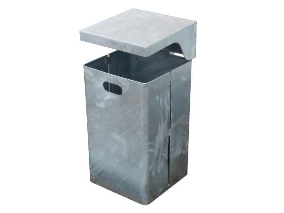 Mülleimer Wertstoffbehälter 45 l Abfalleimer Abfallbehälter feuerverzinkt
