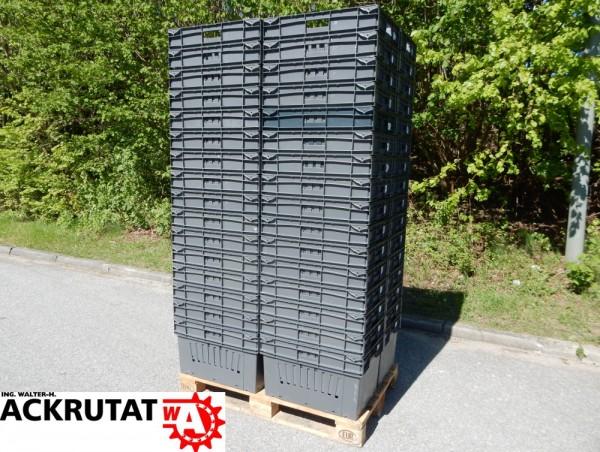 64 Stapelbehälter 60 Ltr. UTZ Lagerbox Kiste Lagerkasten grau Stapelbox Stapelkiste
