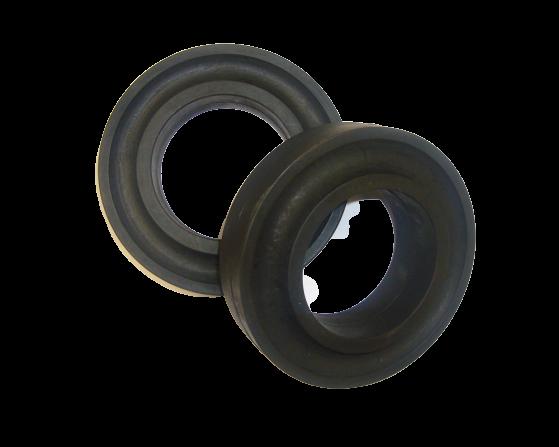 10 Pufferring Ø 63,5 x 108 mm Gummiring Tragrolle Förderband