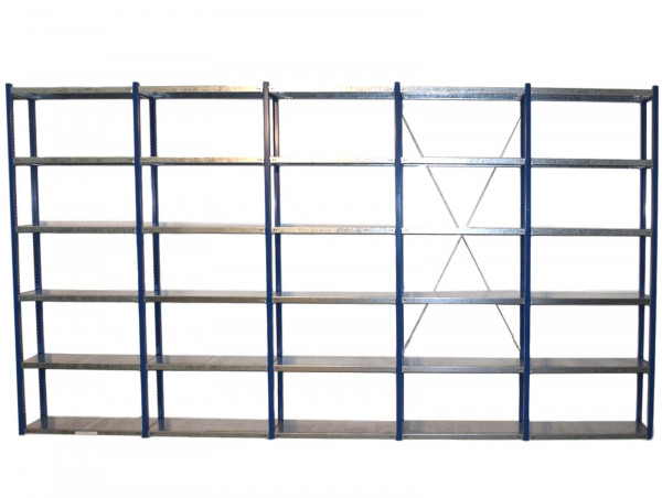 H2450 T400 L5240 Gemac Fachbodenregal Industrieregal Stahlregal 5 Felder