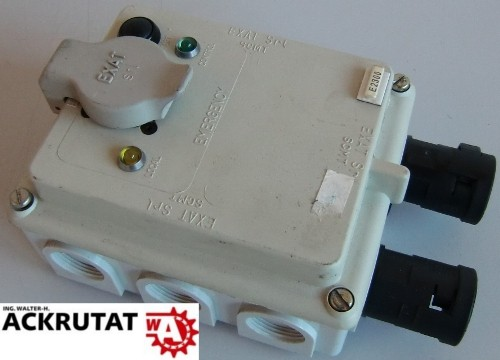 3 Stk. EXAT SRL Anschlussbox redundante Steuerung zwei Kanal Handsteuerung