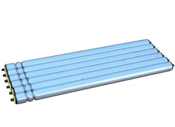 6er Set Tragrollen Interroll Doppelsicke Kunststoffachse