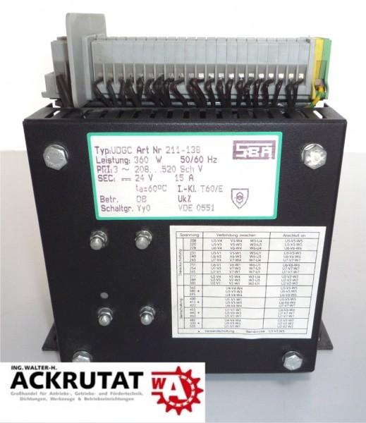 Gleichstromversorgung Trafo SBA UDGC 211-138 24V