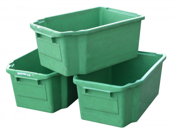 SSI Schäfer FB 600 Drehstapelbehälter 400x600x250 mm Kunststoffkiste grün 40 l