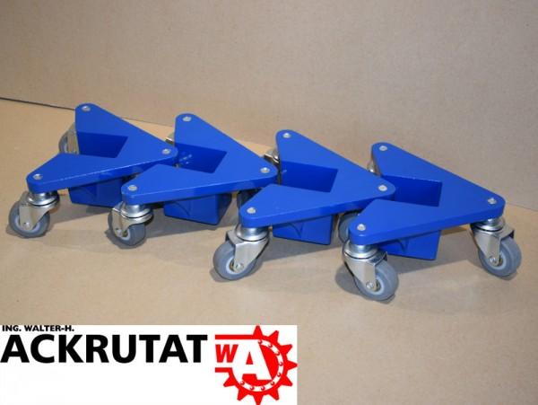 4 St. Schwerlast Möbelroller Transporthilfe Eckenroller Tischroller 100 kg