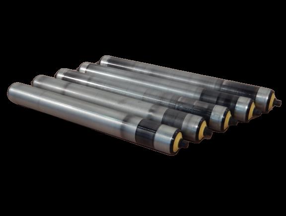 5x Tragrollen für Rollenbahn Interroll Ø 50 mm, Länge 430 mm, Stahl, SW 11