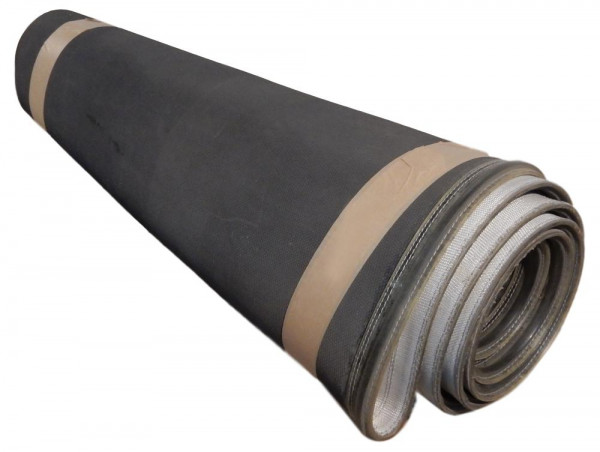 Axmann Kurvengurt 83,5° Gurtkurven-Förderband grau Breite 805 mm Kurvenförderer
