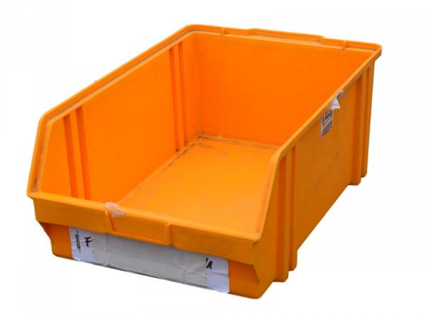 Sichtlagerkisten gelb/orange Kunststoffkiste Lagerbox