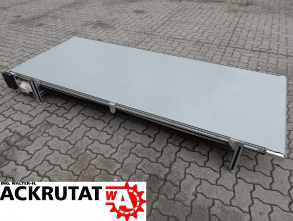 Förderband Gurtförderer PVC Glattgurt B 995 mm Stückgut Gurtförderband 0,37 kW