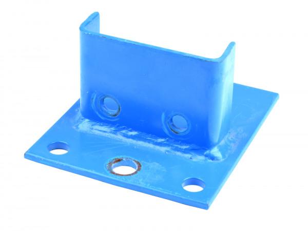 2x Stow Fußplatte Palettenregal Fuß Regal Rahmen B85 mm Regalfuß Blau Ersatzteil