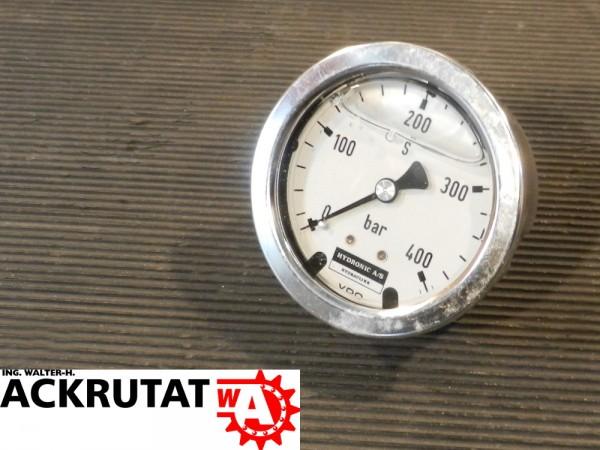 Hydronic A/S Druckermittler Druckmessgerät 400 bar Barometer Manometer Glyzerin