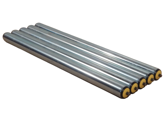 5 x Tragrolle Interroll 1700 Federachse RL 800 mm Universal-Förderrolle Ø 50 mm