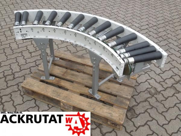 Rollenbahnkurve 90° Rollenkurvenförderer L1650 Rollenbahn Antrieb Kurve