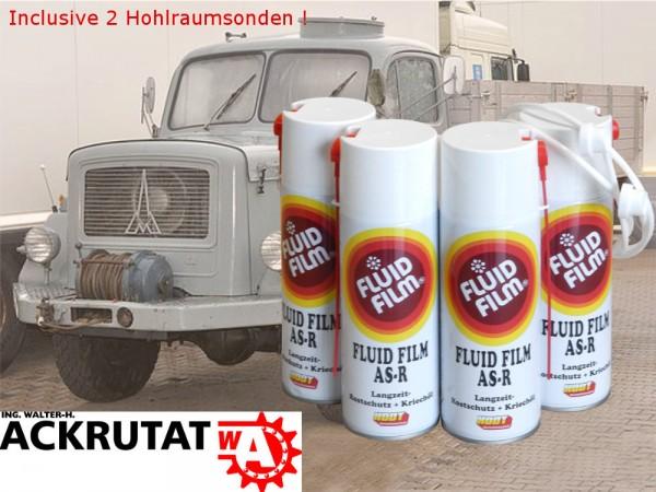4 x Fluid Film AS-R 400 ml Kriechöl Lkw Rostschutz Fahrzeug Korrosionsschutz