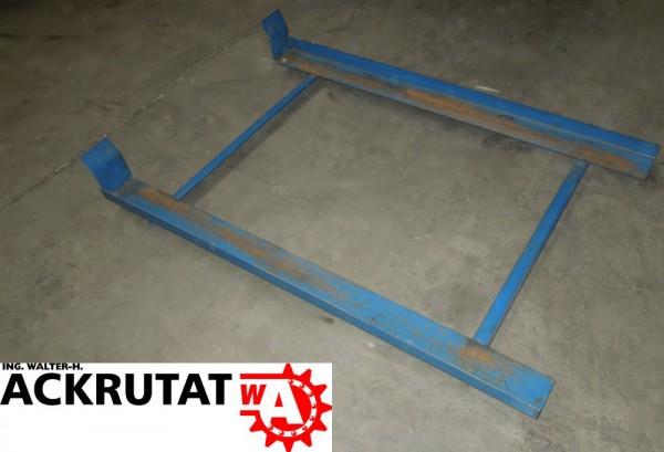 2 Gitterboxauflage Palettenregal 1050 mm Tiefenstegrahmen Durchschubsicherung