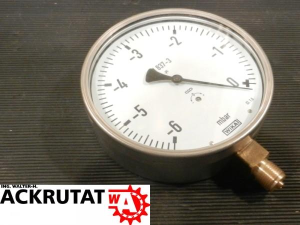 Wika Druckermittler 612.20 Druckmessgerät mit Kapselfeder Barometer Manometer