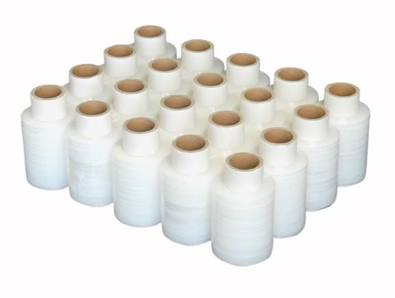 20 Rollen Mini-Wickelfolie 100mm x 150m Stretchfolie Handwickelfolie transparent