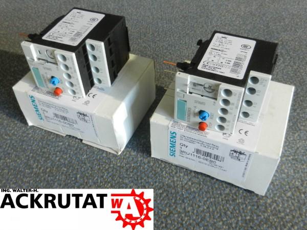Siemens 2 Stück Sirius 3RU1116-0EB0 3RU1116-0DB0 E01 Überlastrelais Relais