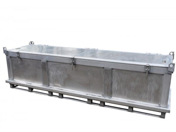 Transportbox Aluminium 3650x1115x1050 mm (BxTxH) Lagerkiste Materialkiste