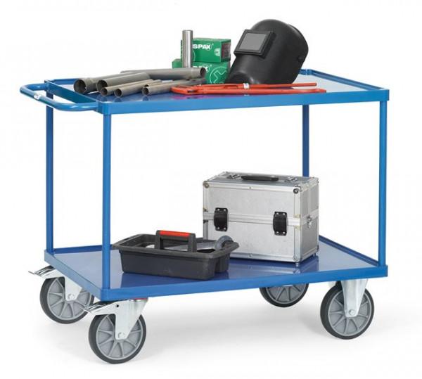 Fetra Tischwagen 2402W Ladefläche 1.000 x 700 mm bis 600 kg mit 2 Böden aus Stahlblech