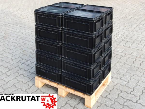 20 Stapelbehälter Schäfer EF 4170 Deckel EF-D43 Lagerkasten Lagerkiste Stapelbox