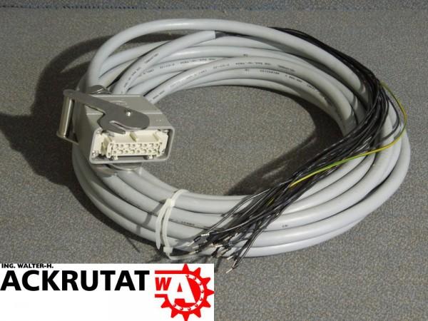 Harting -x1 Motorkabel Camtras Steckvorrichtung 18 x 1,5 mm Helu 12,8m