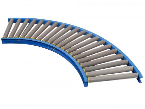 Rollenbahnkurve 90° RL 450 mm Schwerkraft-Förderbandkurve Kunststoffrollen