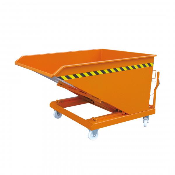 Schüttgut-Kippbehälter 2014 in orange lackiert