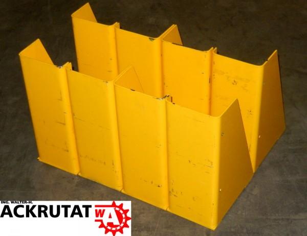 8x Pfostenschutzprofile Rammschutz Säulenanfahrschutz Regalauffahrschutz