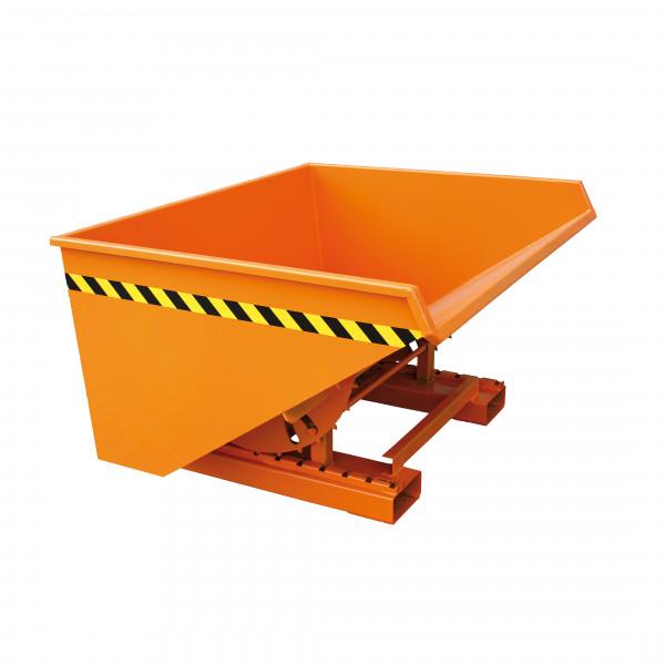 Abrollkufen-Kippbehälter 2023 in orange lackiert