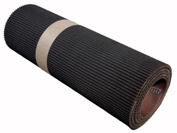 Schwarzer Fördergurt B 495 mm Anti-Rutsch-Gurt L 2,1 m Greifgurt Gurtförderer