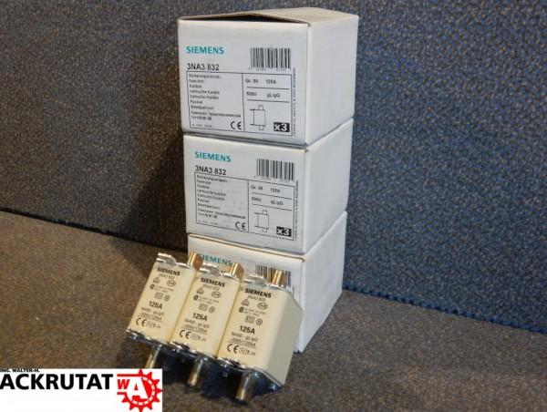 9 Stück Siemens Sicherungssatz 3NA3 832 Gr.00 Sicherungselement 125 A