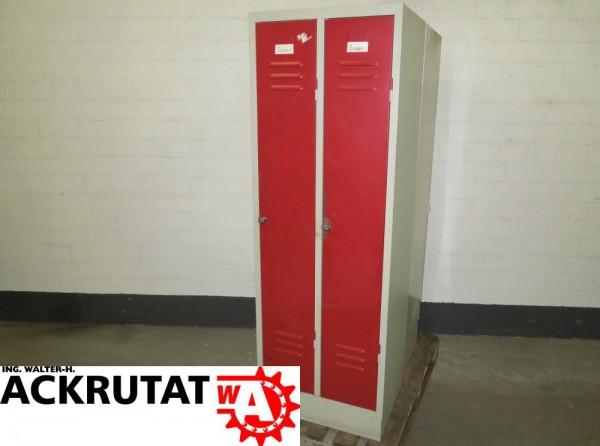 2 Türen Kleiderspind Metall Schrank Garderobenschrank Stahlschrank ...