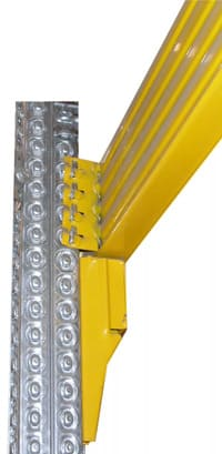 metalsistem alt Palettenregal Rahmen Profil Raster Lochmuster