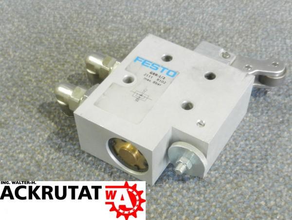 Drosselrückschlagventil Festo Rollhebel GRR-1/2 2111 Pneumatik Druckluft