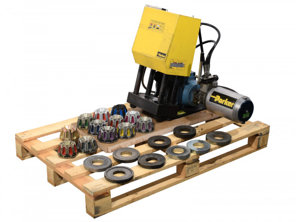 Parker Werkstatt-Schlauchpresse Parkrimp 1 80C-080 Crimpmaschine inkl Backensets