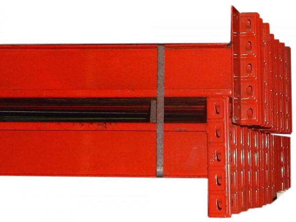 10x Galler Omega Palettenregalauflagen Balken Regaltraverse LW 2795 mm Rot