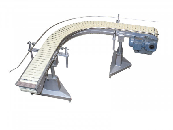90° B240 Kurvengurtförderer Flex Link Förderbahnkurve Kunststoff Gliedergurt