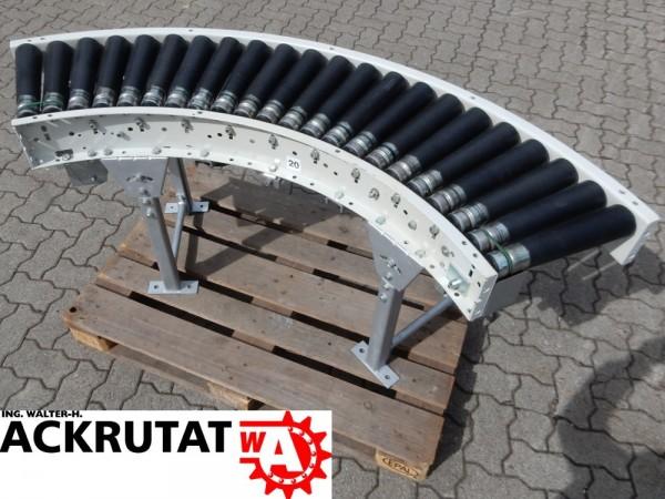 90° Förderkurve angetrieben Rollenbahnkurve Breite 340 mm Kurvenförderer 0,57 m/s