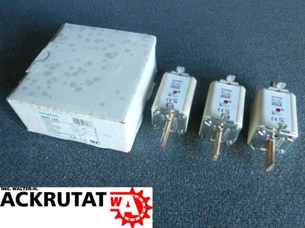 3 Stück Siemens 3NA7 144 Sicherungseinsätze 250 A 3NA7144