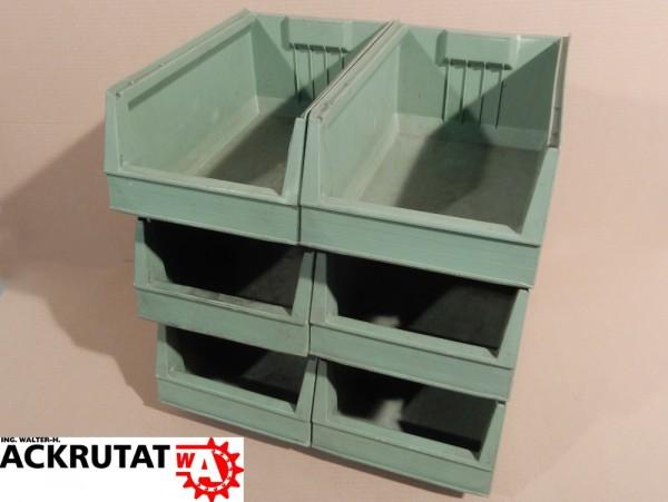 6x Arca Systems 9073 Sichtlagerbox Kasten Kiste Behälter Lagerbox Box Kisten