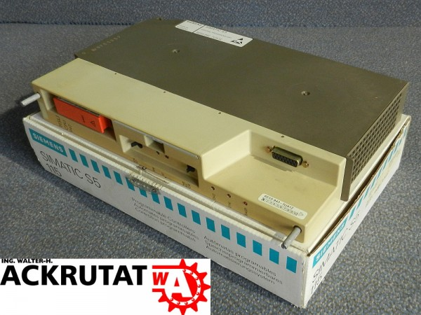 Siemens Simatic S5 CPU 6ES5 942-7UA12 115U Central Processing Unit E01