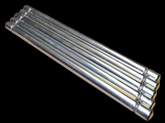 5 St Interroll Universalförderrolle Rollenbahn RL 800 mm Sicken-Tragrolle