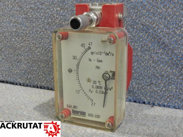 Heinrichs KDS-220 Schwebekörper Durchflussmesser Durchflussmessgerät