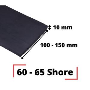 Abstreifgummi 150x10 mm 60-65 Shore