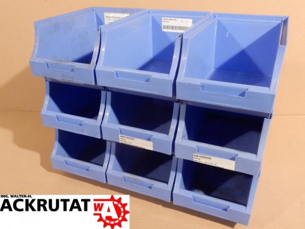 9 St.Maxi Stapelkasten Sichtlagerkiste Regalkästen Box Kiste Regalbehälter Boxen