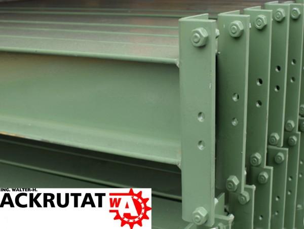 10 Stück Ohra Regaltraversen INP-Profil grün LW 3.290 mm Holm Traverse Regalholm