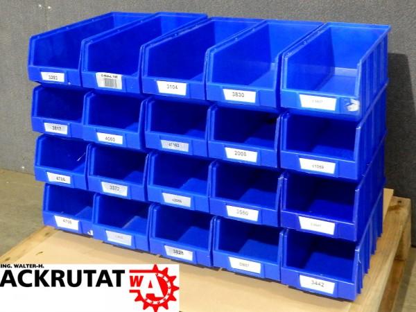 20 Transportkiste Regalkasten Sichtlagerbox Kiste Kasten Box stapelbar